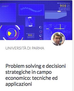 Cover MOOC EDUOPEN del Prof. Lasagni su Problem Solving e fare economia